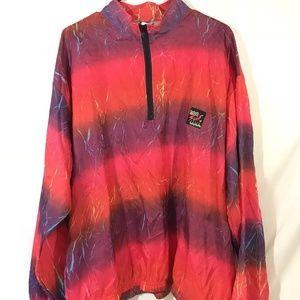 Vintage Neon 90s Surf Style Windbreaker Zip Up OS